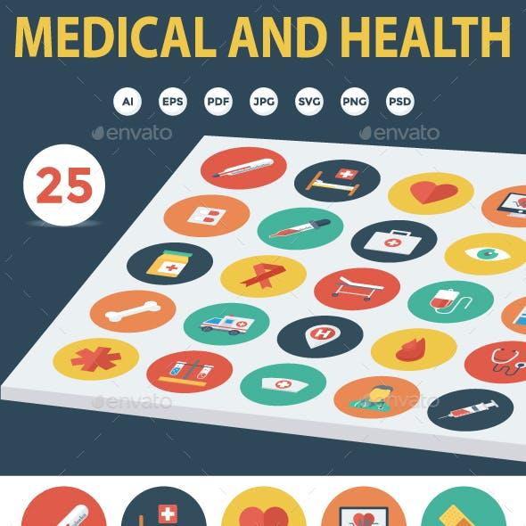 25 Medical & Health Flat Icons