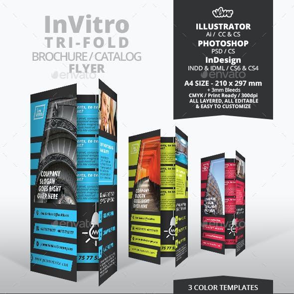 InVitro Tri Fold Flyer Template