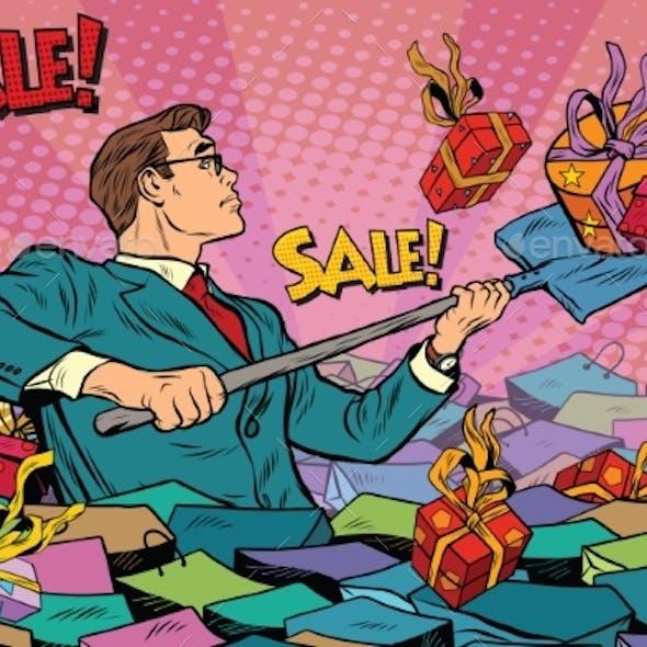 Businessman and Sales Season
