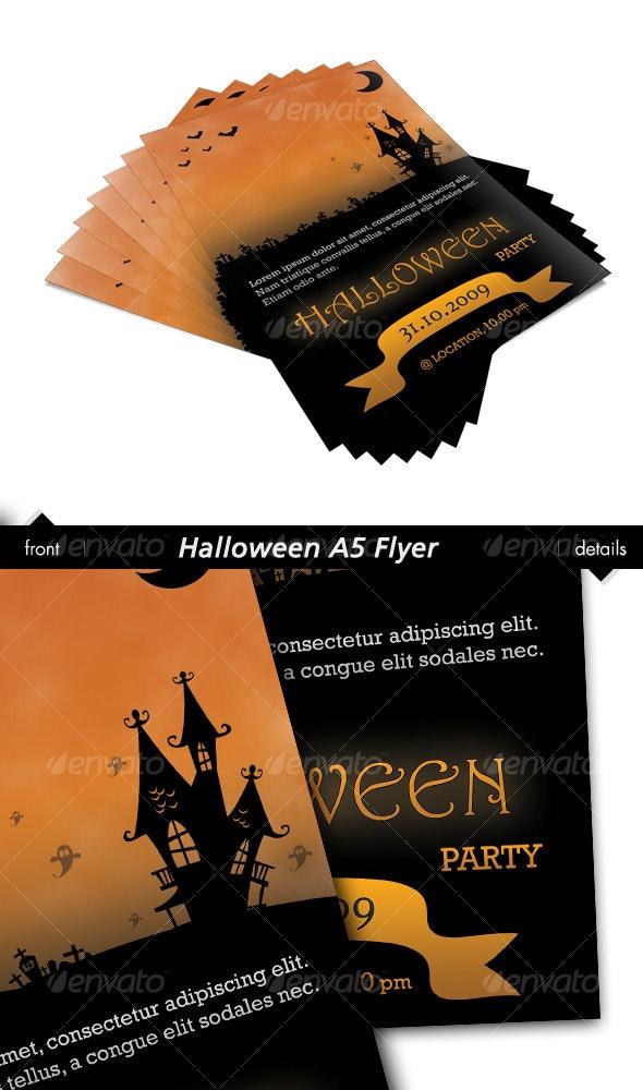 Halloween A5 Flyer - Holidays Events