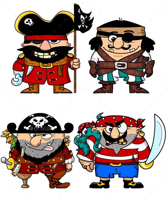 Pirates - Characters Vectors