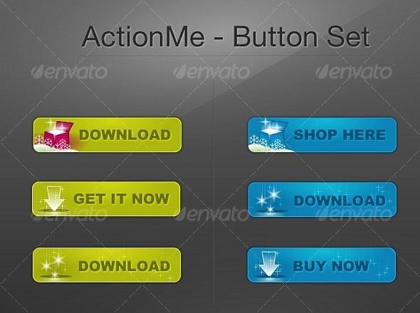 """""""StarTale"""" - Web Button """"Action Set"""" - Buttons Web Elements"""