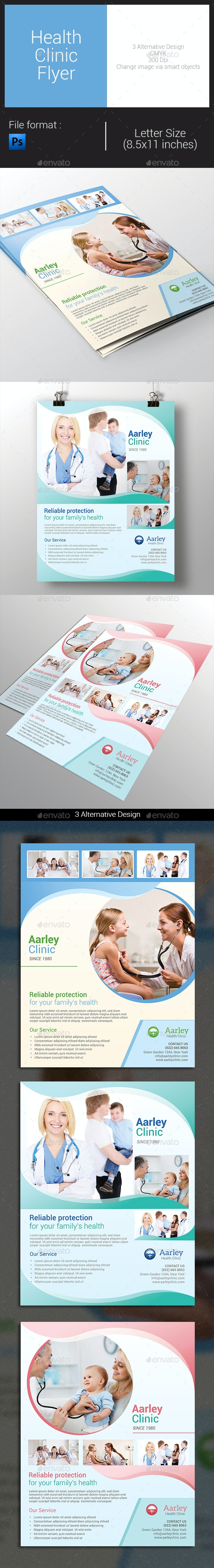 Health Clinic Flyer - Corporate Flyers
