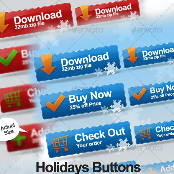 Holidays Buttons Collection 018