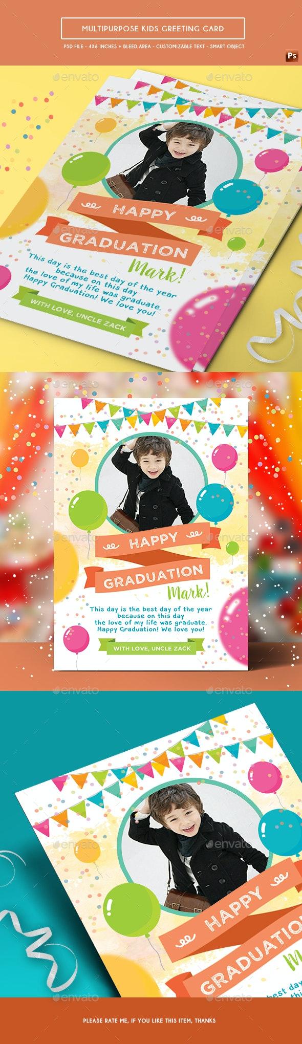 Multipurpose Kids Greeting Card - Birthday Greeting Cards