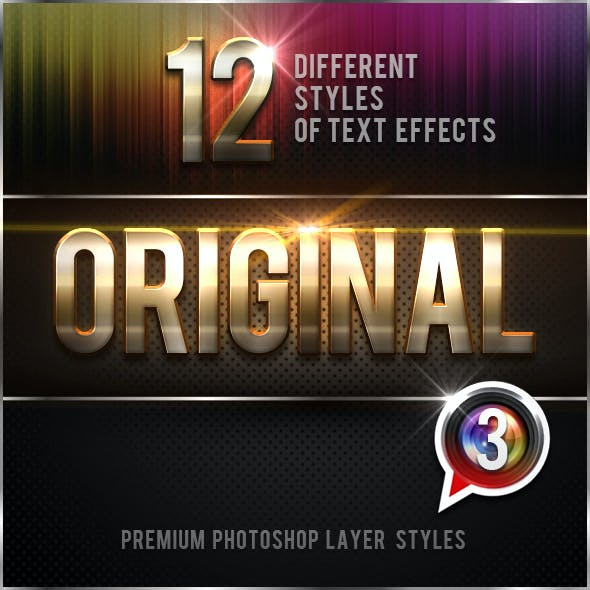 12 Original Photoshop Text Effects Vol.3