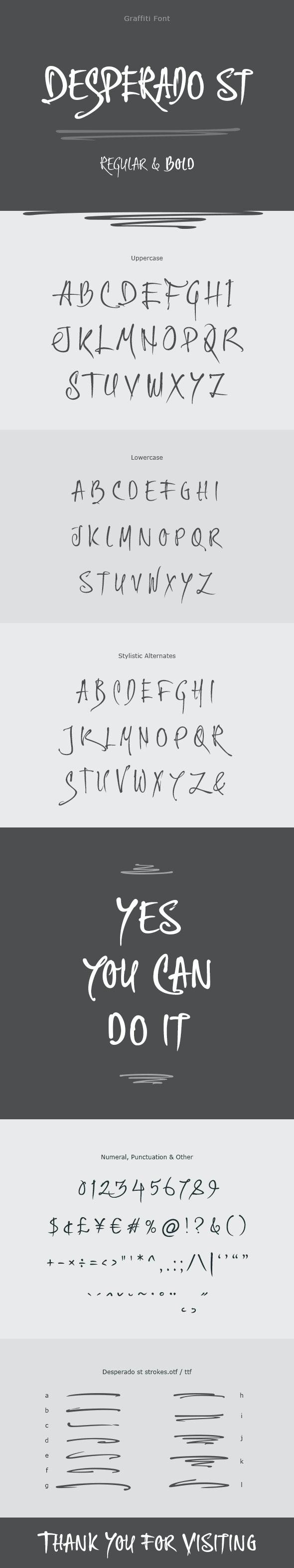 Desperado st Graffiti Font - Graffiti Fonts
