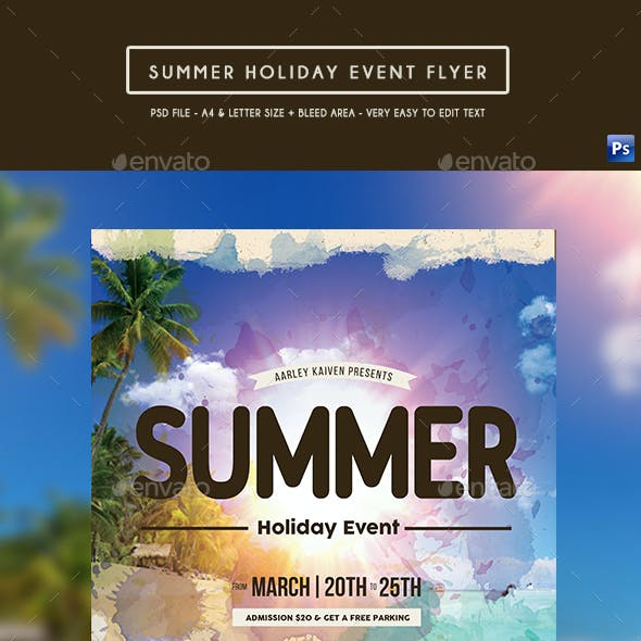 Summer Holiday Event Flyer