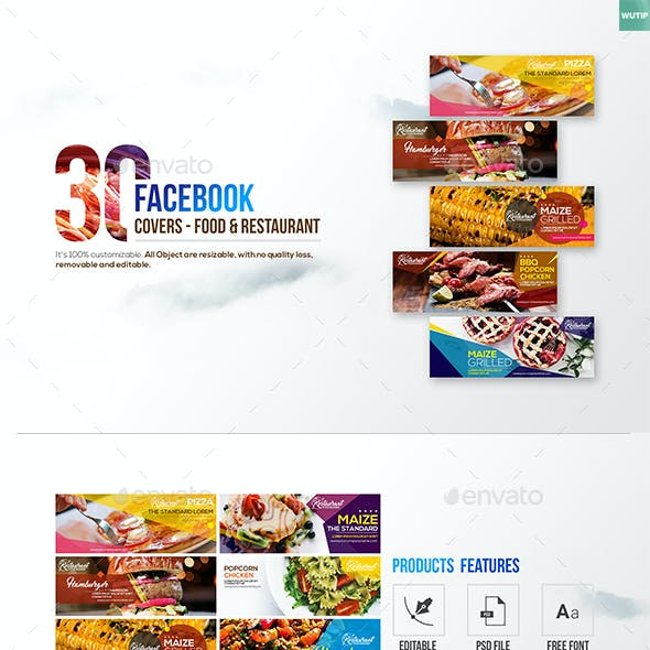 30 Food & Restaurant Facebook Covers