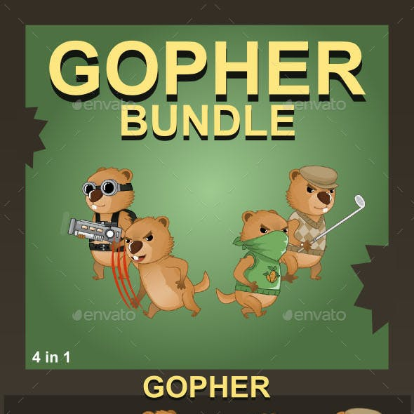 Gopher Pack Sprite Character