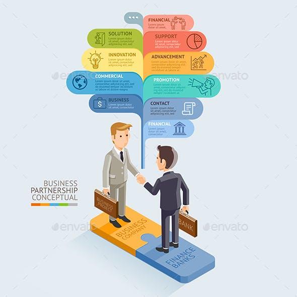 Businessman Handshake on Jigsaw Puzzle.