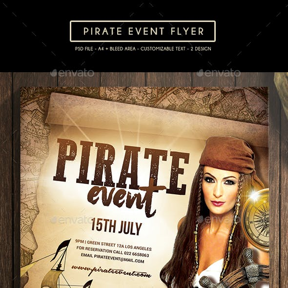 Pirate Event Flyer