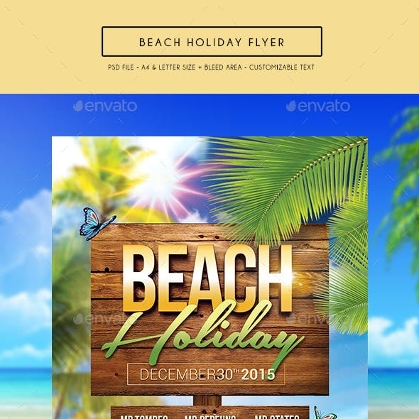 Beach Holiday Flyer