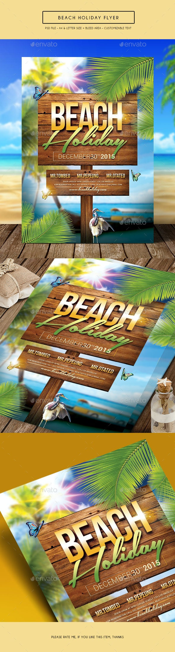 Beach Holiday Flyer - Clubs & Parties Events