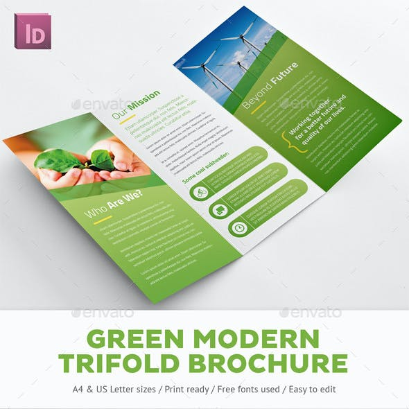 Green Modern Trifold Brochure