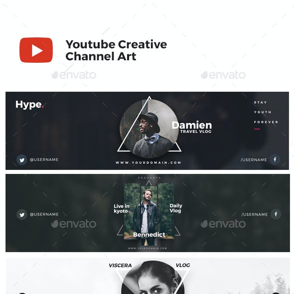 Creative Youtube Channel Art Cover