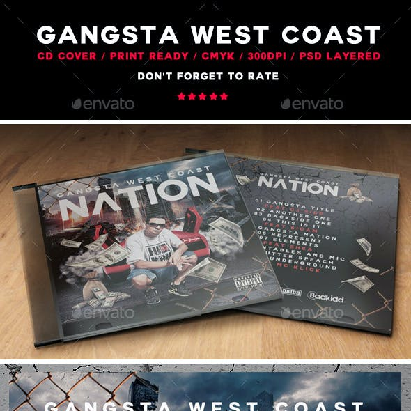 Gangsta West Coast CD Cover