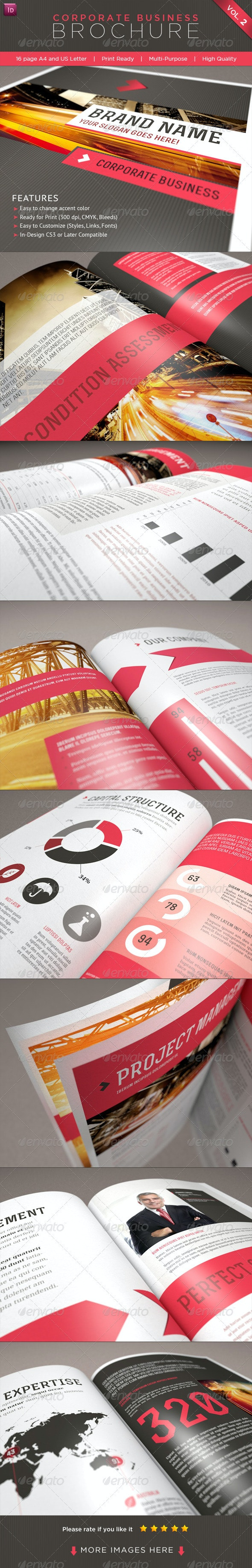 Professional Corporate Business Brochure Vol. 2 - Corporate Brochures