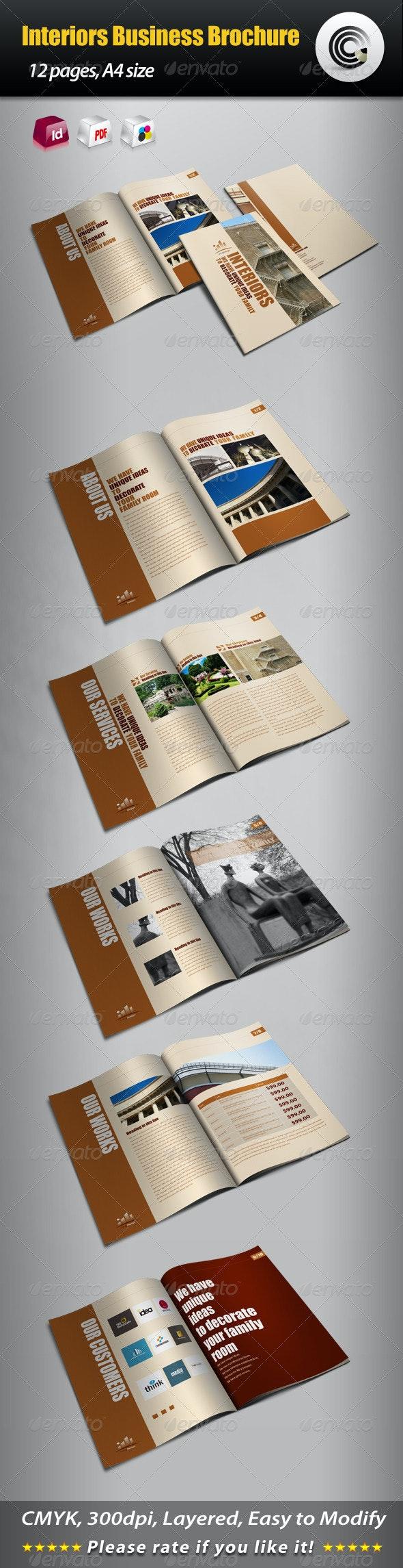 Interiors Business Brochure - Corporate Brochures