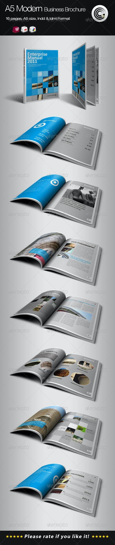 A5 Vertical Modern Business Brochure - Corporate Brochures