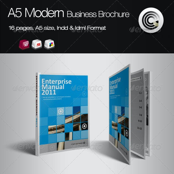 A5 Vertical Modern Business Brochure