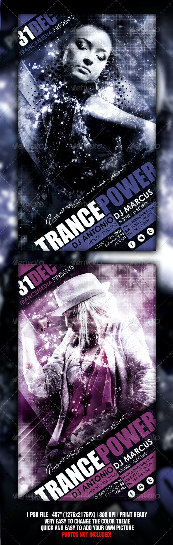 Trance Energy Flyer - Flyers Print Templates