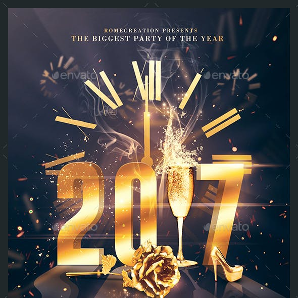 2017 NYE Party | Psd Invitation Template