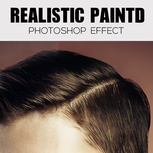 Realistic painted Photoshop Effect