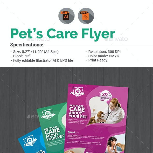 Pet Care Flyer Template V5