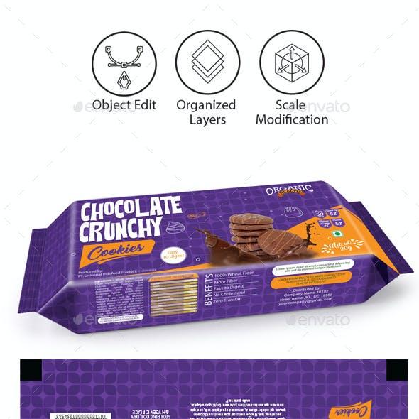 Chocolate Cookies Packaging Template
