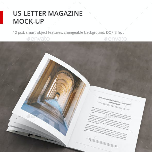 US Letter Magazine Mock-up