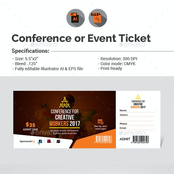 Conference / Event Ticket Template