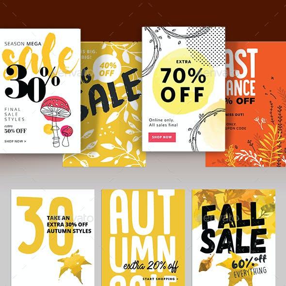 Autumn Social Media Sale Banners