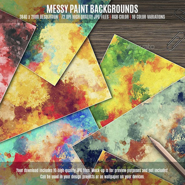 Messy Paint Backgrounds