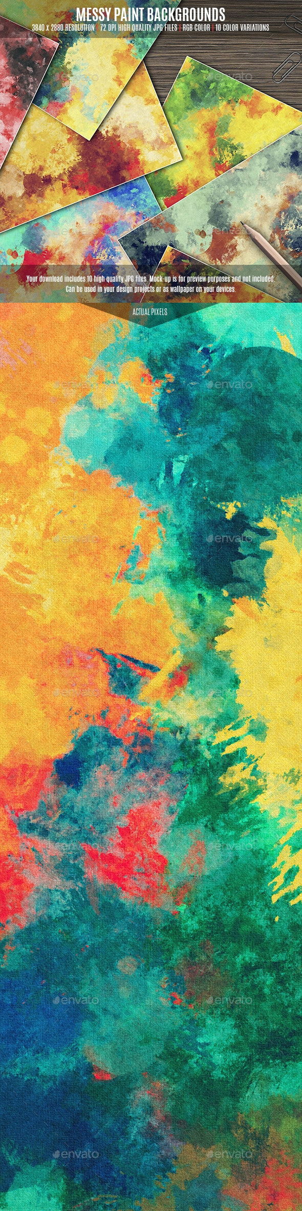 Messy Paint Backgrounds - Backgrounds Graphics