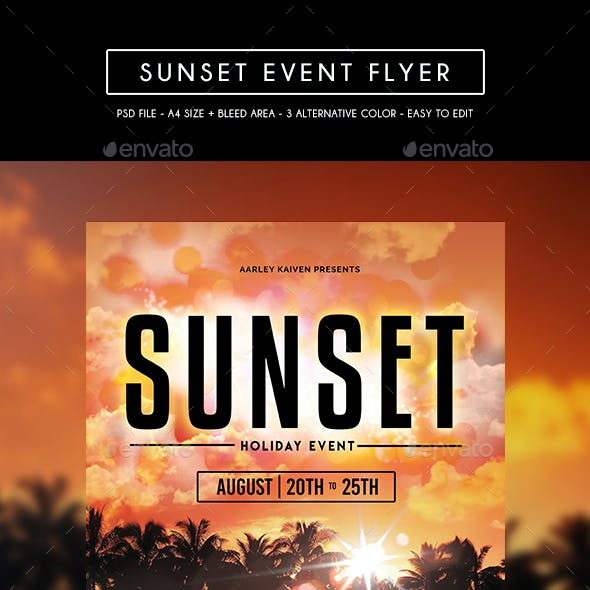 Sunset Event Flyer