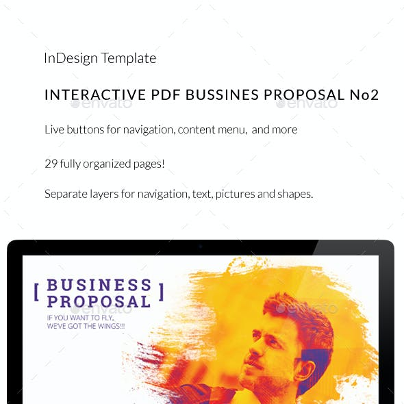 Interactive PDF Business Proposal No2