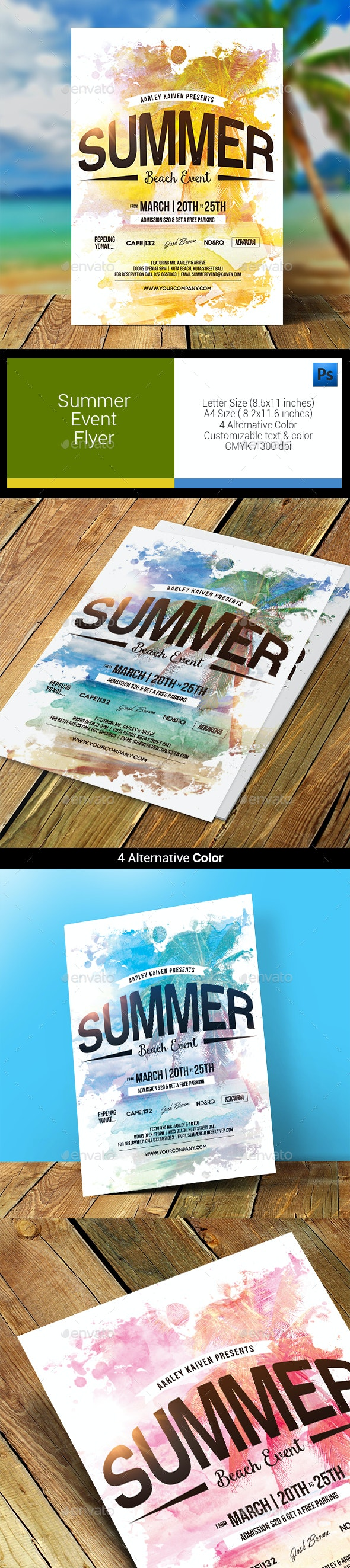 Summer Event Flyer - Clubs & Parties Events