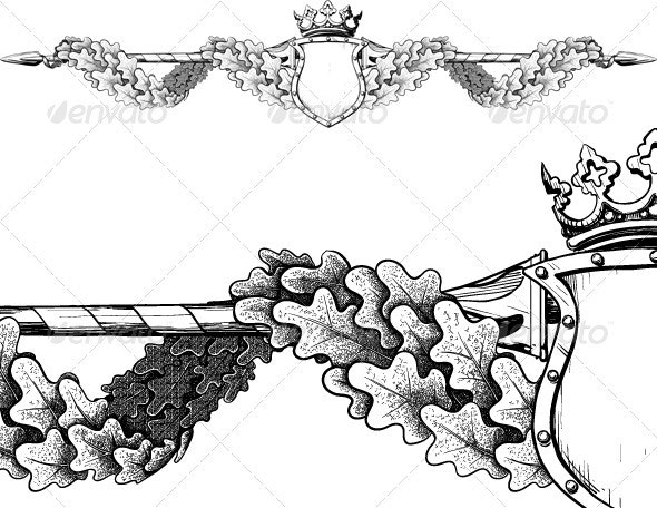 The title of the form in the Victorian style - Borders Decorative