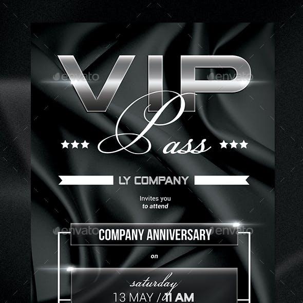 Multipurpose VIP Pass Invitation
