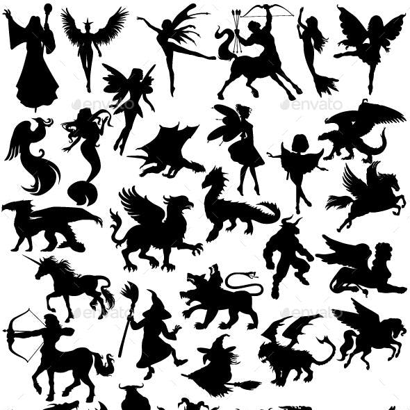 Mythical Creatures Silhouettes