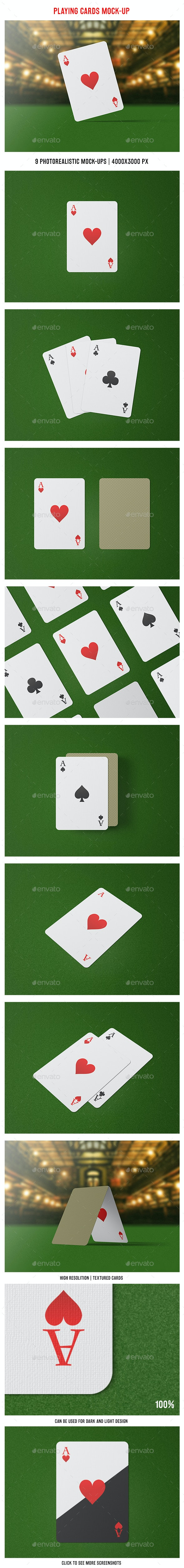 Playing Cards Mock-Up - Miscellaneous Print