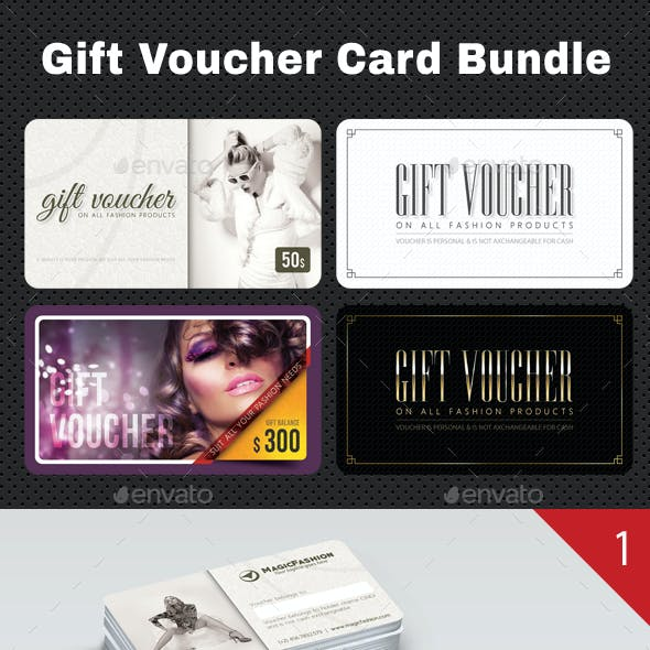 3 Gift Voucher Card Bundle