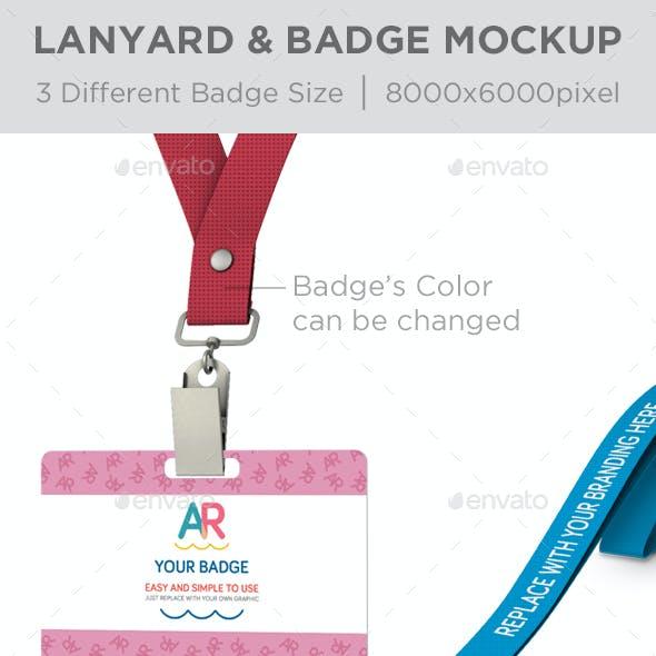 Lanyard & Badge Mockup