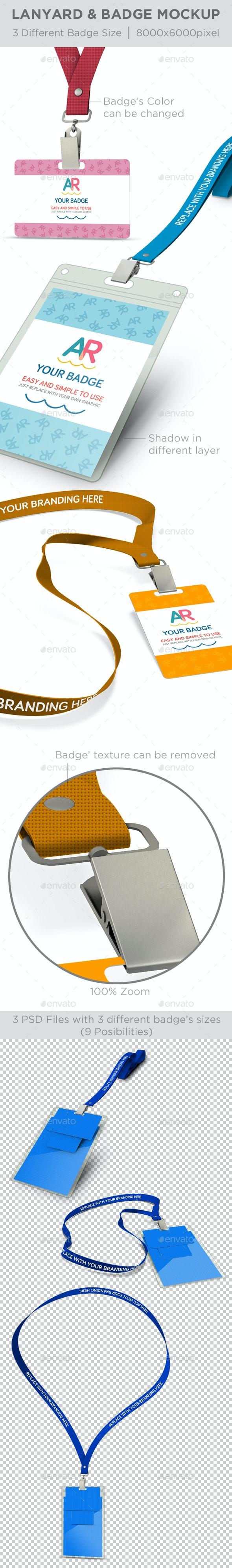 Lanyard & Badge Mockup - Product Mock-Ups Graphics