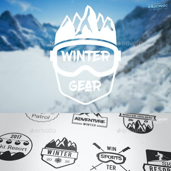 Winter Season Badges Logos