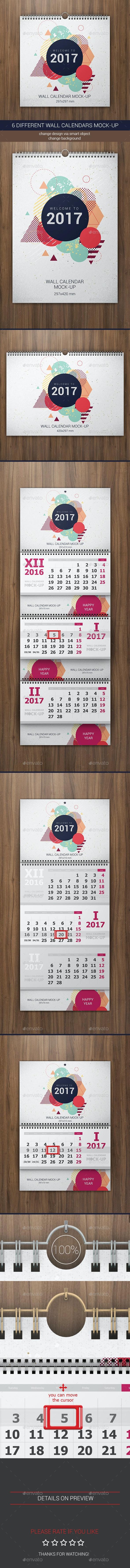Wall Calendars Mock-Up - Miscellaneous Print