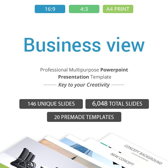 Business view PowerPoint Presentation Template