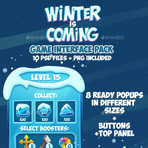 Frozen Christmas Winter Game Interface