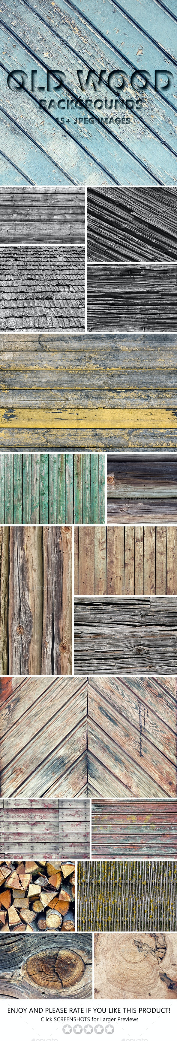 Old Wood Backgrounds - Wood Textures